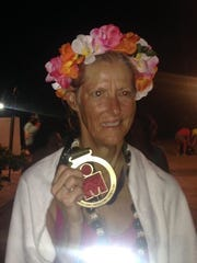 Sandy Padgett, who finished the Kona Ironman, has completed marathons in all 50 states and all seven continents as well as three full Ironmans and a dozen half Ironmans.