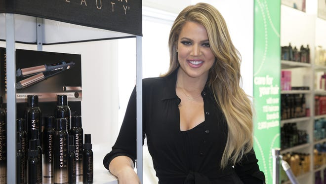 Khloe Kardashian appears at a promotional event for Kardashian Beauty at ULTA on Thursday, April 2, 2015, in Los Angeles.