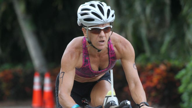 One of Deb McBride-Morphy's three victories this year was at the Galloway Captiva Tri.