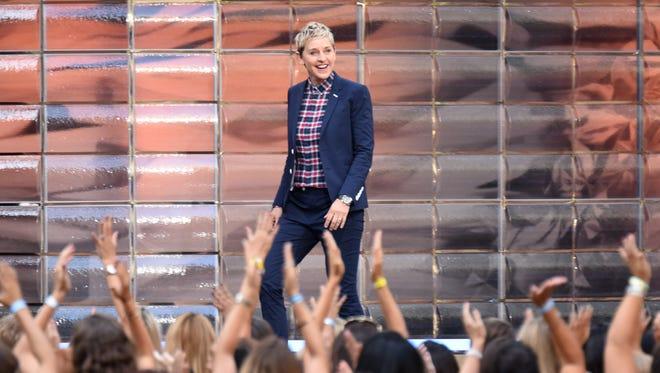 "TV show host Ellen Degeneres appears at ""The Ellen Degeneres Show"""