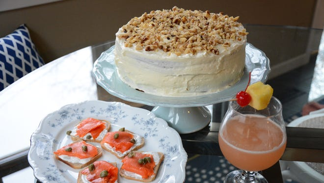Smoked Salmon Canapes, Banana Cake with White Chocolate Cream Cheese Icing  and the Honolulu cocktail are worthy recipes to add to your repertoire.