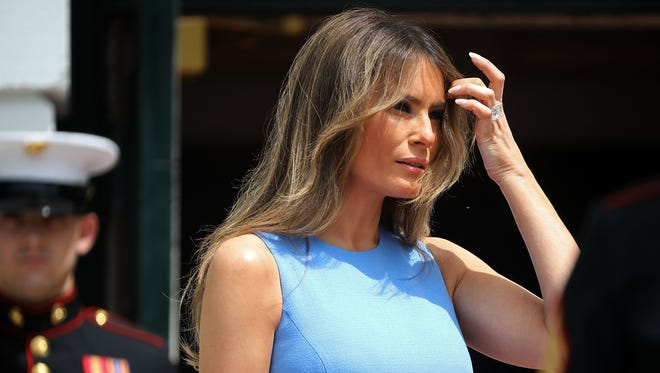 First lady Melania Trump at the White House June 19, 2017.