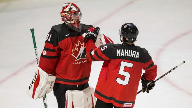 Carter Hart will have a huge spotlight on him as the goalie for Team Canada in the World Junior Championship.