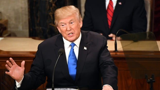 President Trump delivers the State of the Union address from the House chamber of the United States Capitol.