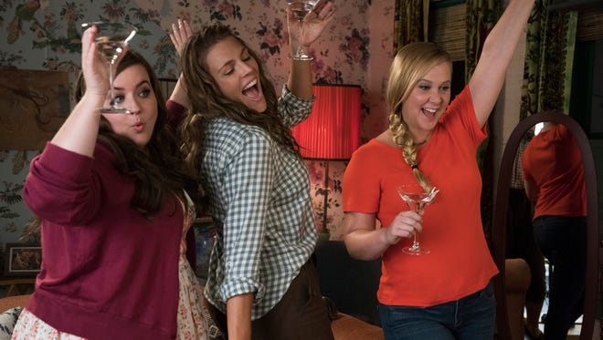 """Aidy Bryant, Busy Philipps, and Amy Schumer star in """"I Feel Pretty."""" The movie opens April 19 at Regal West Manchester Stadium 13 and R/C Hanover Movies."""