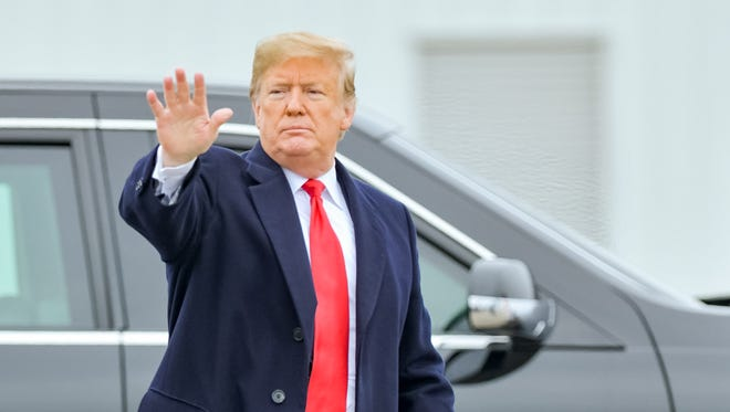 President Donald J. Trump arrives at Louis Armstrong Airport in New Orleans. Monday, Jan. 14, 2019.