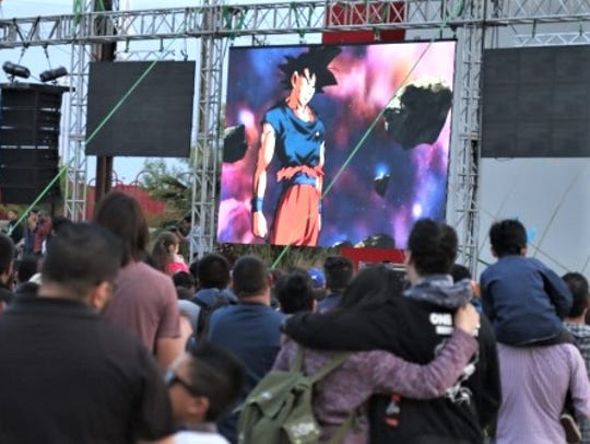 """""""Dragon Ball Super"""" was shown March 17 at """"The X"""" monument"""