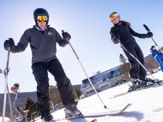 Brother and sister alpine skiers Joseph and Gigi Vasile
