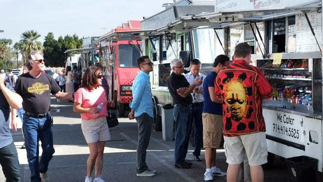 """Representatives from the food truck industry say the city's regulations – viewed as """"fairly onerous"""" – are in effect meant to keep the businesses out of Palm Springs."""