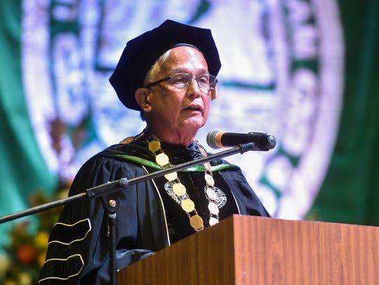 University of Guam President Robert Underwood delivers