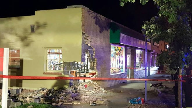 A truck crashed into Big City Burrito in Old Town on Saturday.