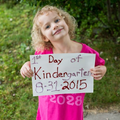 Hannah Kubs on her first day of kindergarten at Immanuel Lutheran School in Marshfield. Her parents are Ben and Kristi Kubs of Marshfield.