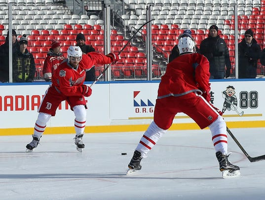 NHL: Centennial Classic-Practice Day