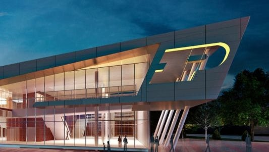 A supplied artist's rendering shows how the new, improved Mollenkopf Athletic Center is expected to appear.