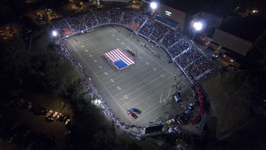 The lights at the Reitz Bowl will shine tonight as the Panthers host North High School.