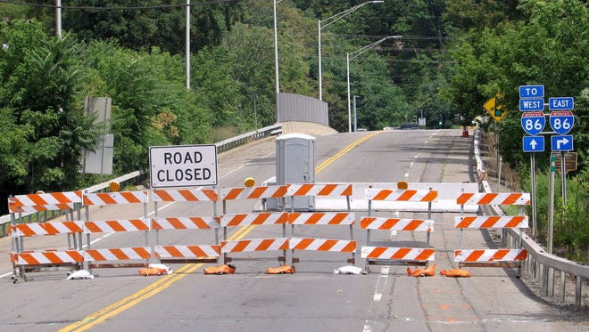 The Elmira East Water Street access to Interstate 86 is closed for rehabilitation.