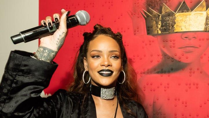 Rihanna at MAMA Gallery on October 7, 2015 in Los Angeles,