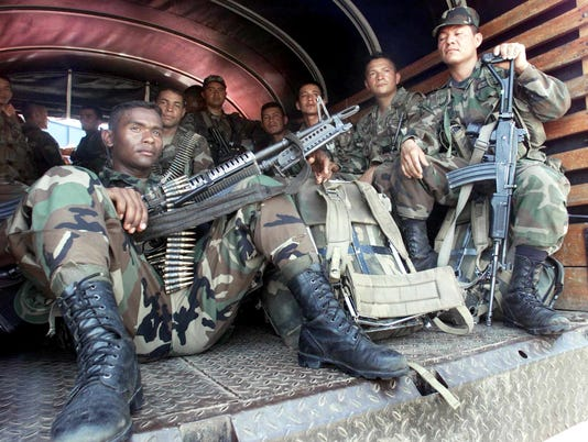 AFP A10 COLOMBIA-ARMY-DEPLOY-PEACE TALKS GUERRILLA ACTIVITIES Colombia