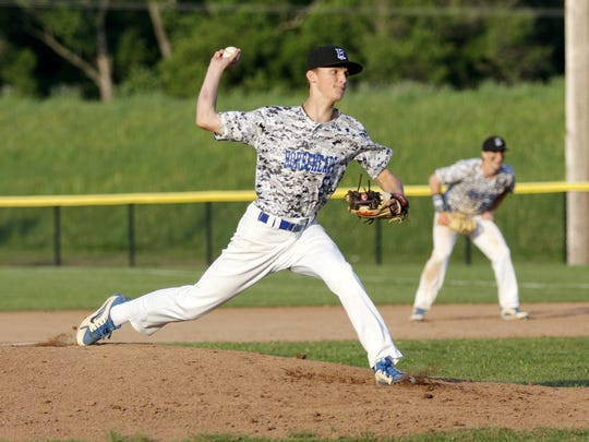 Trey Princiotto tossed a five-hitter for Horseheads in Game 2 of the Section 4 Class AA baseball championship series May 23 at Corning-Painted Post High School.