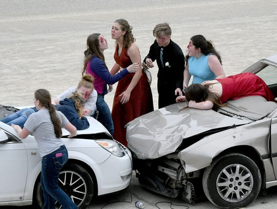 This mock crash was staged in 2017 at the Richland