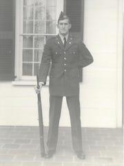 Douglas MacArthur McCrary as an ROTC student at Clemson.