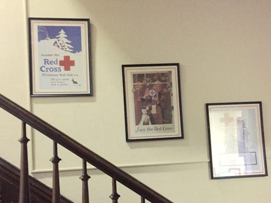 The staircase at the Henderson Red Cross office, located at 300 Center Street in Henderson, Ky. The Red Cross plans to put the house on the market soon and relocate to a smaller office somewhere in Henderson. Photo taken Sept. 7, 2016.