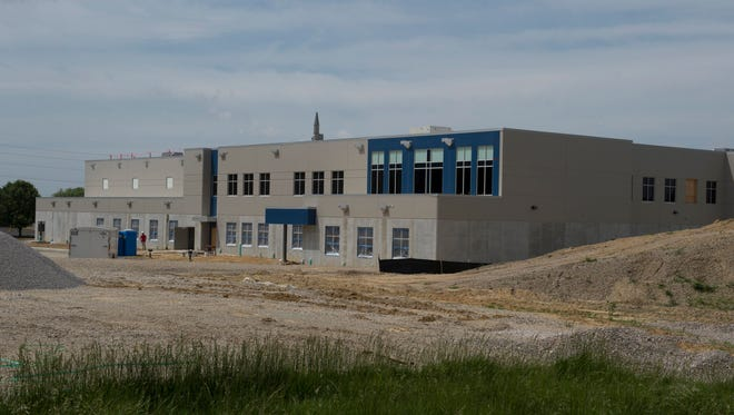 Evansville Christian High School is scheduled to be completed in mid-June.