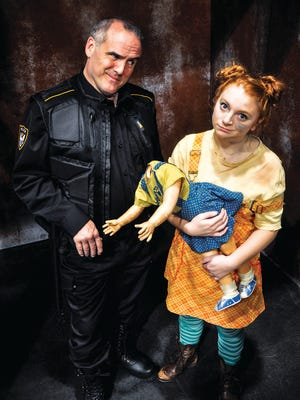 """Norm Boucher and Crystal-Marie Alberson star in """"Urinetown, The Musical"""" at the Clarence Brown Theatre."""