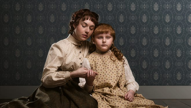 """Marina Shay as Anne Sullivan and Brooklyn Norstedt as young Helen Keller in Alabama Shakespeare Festival's production of """"The Miracle Worker."""""""