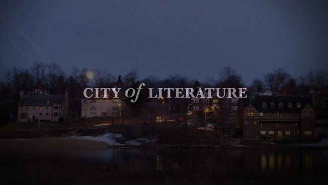 "This image shows the title shot of Benjamin Hill's new documentary, ""City of Literature."" The documentary is part of the syllabus for a new University of Iowa course on Iowa City literary history."