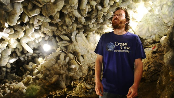 Dustin Heineman, general manager of Heineman Winery, tells about the Crystal Cave below Put-in-Bay.