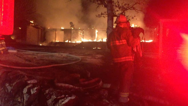 Tracy Area firefighters were joined by those from Buford and Salesville Sunday night as they battled a house fire shortly after 9:00 p.m. No further details were available Sunday night as firefighters were busy on the scene.