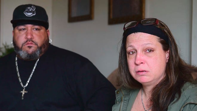 Nancy Copeland, right, and Shane Durbin of Fremont remember their son, Martel Copeland, 22, who died from a drug overdose on Aug. 27, 2016. The family tried to get him into a Florida rehab center, then took him to Toledo where he was turned away because he didn't have his medical insurance card with him.