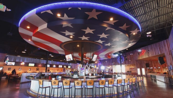 "Inside a Toby Keith's ""I Love This Bar"" restaurant."