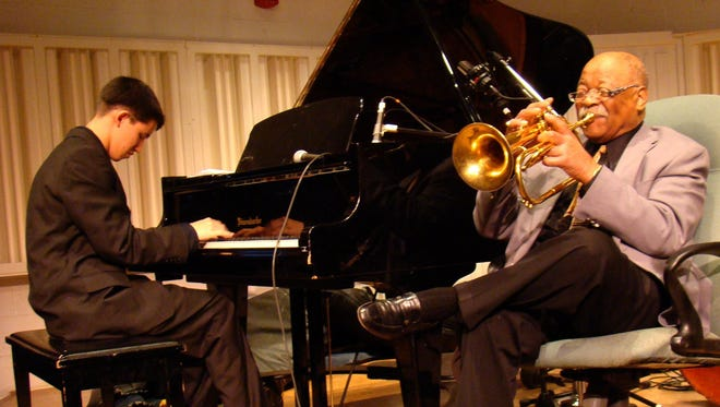 "Justin Kauflin, left, with Clark Terry in ""Keep on Keepin' On."""