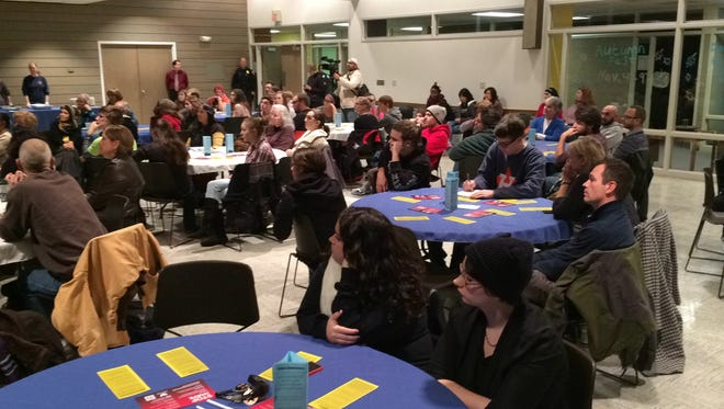 Students of the University of Wisconsin-Green Bay and members of the school's Muslim Student Association put on a dinner and panel discussion to help members of the community understand and accept their Islamic neighbors.