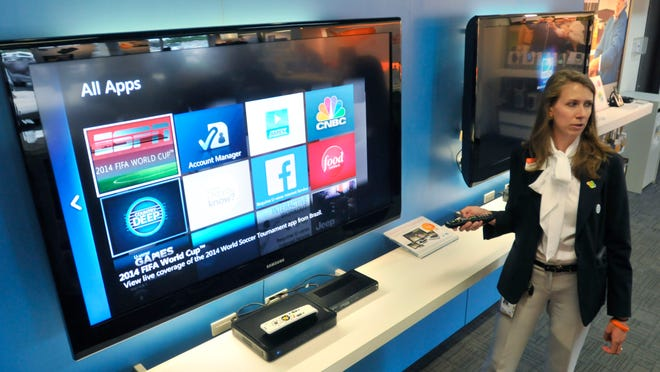 AT&T demonstrates their new U-verse on Monday.