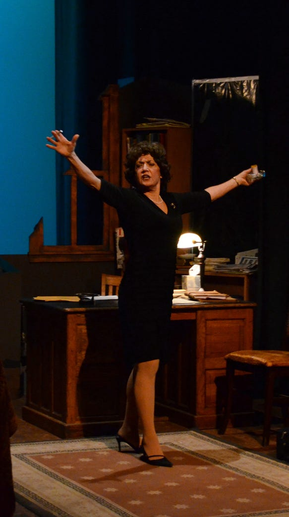 """Barbara Deering won rave reviews — and a Best Lead Actress nomination — as Violet Weston in BPA's """"August: Osage County."""""""