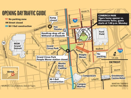 Opening Day traffic map.