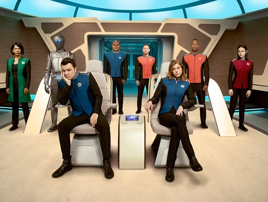 THE ORVILLE:  L-R:  Penny Johnson Jerald, Mark Jackson,