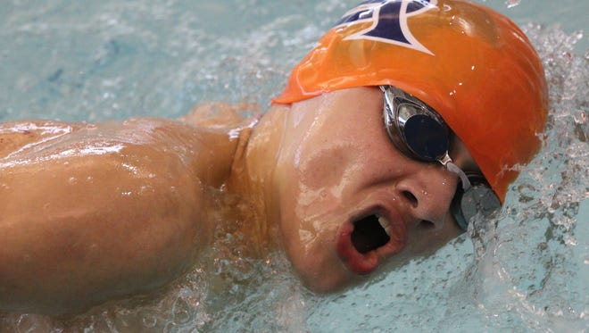 The Central High School boys won an eighth straight district swimming title on Thursday, Jan. 18, 2018.