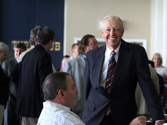 Bob Kulina, president of Darby Development LLC, operators of Monmouth Park, attends a luncheon and press conference to kick-off the 70th season at Monmouth Park in Oceanport last Tuesday.