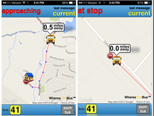 New app lets school children, parents track their bus.