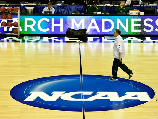 NCAA Basketball: NCAA Tournament-Michigan State Practice