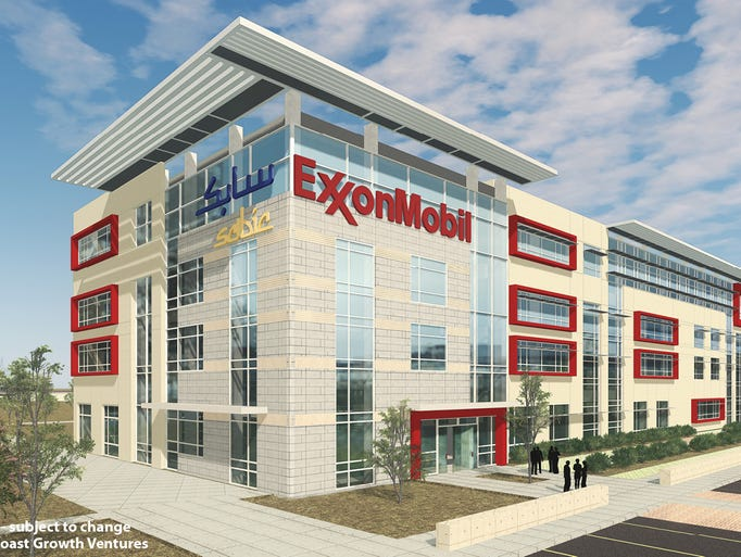 Artist rendering of office building that would occupy
