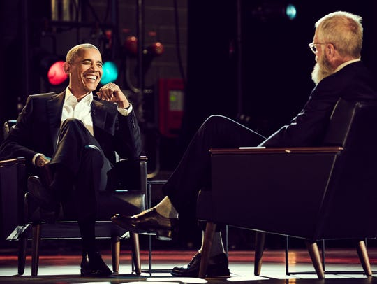 President Obama and David Letterman on 'My Next Guest