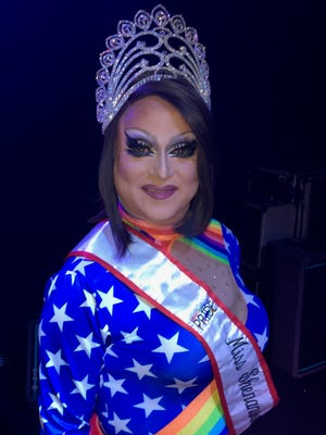 Reigning Miss Shenandoah Valley Pride Jayda Knight on stage for the Queen City show at the Clocktower Restaurant & Bar in Staunton on Saturday, July 7, 2018.