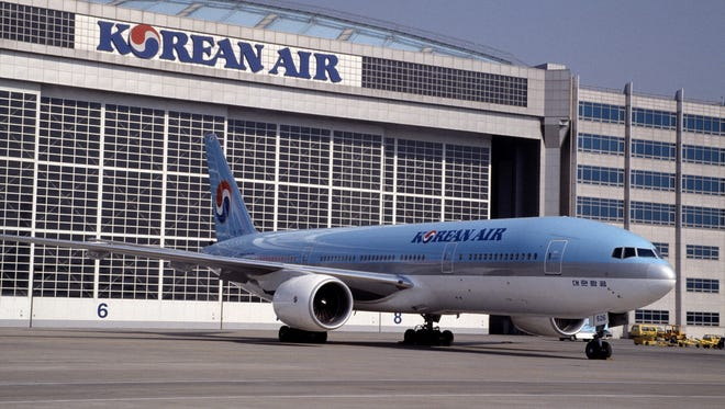 An undated photo of a Korean Air Boeing 777-200 aircraft.