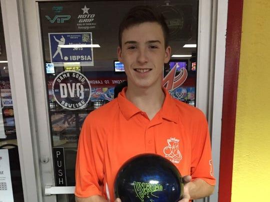 Harrison (West Lafayette) bowler Jeffrey Mann.