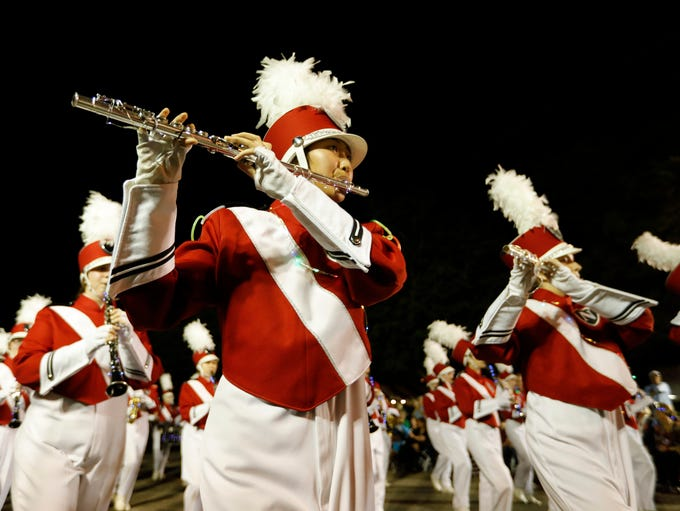 Marching bands were among the most active performers